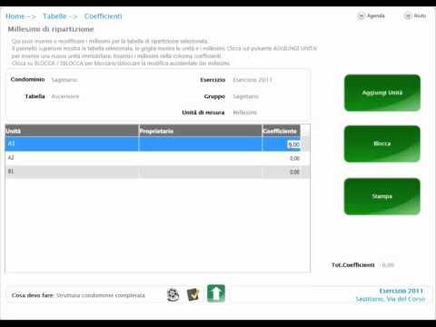 iCube - Inserimento Tabelle di Ripartizione